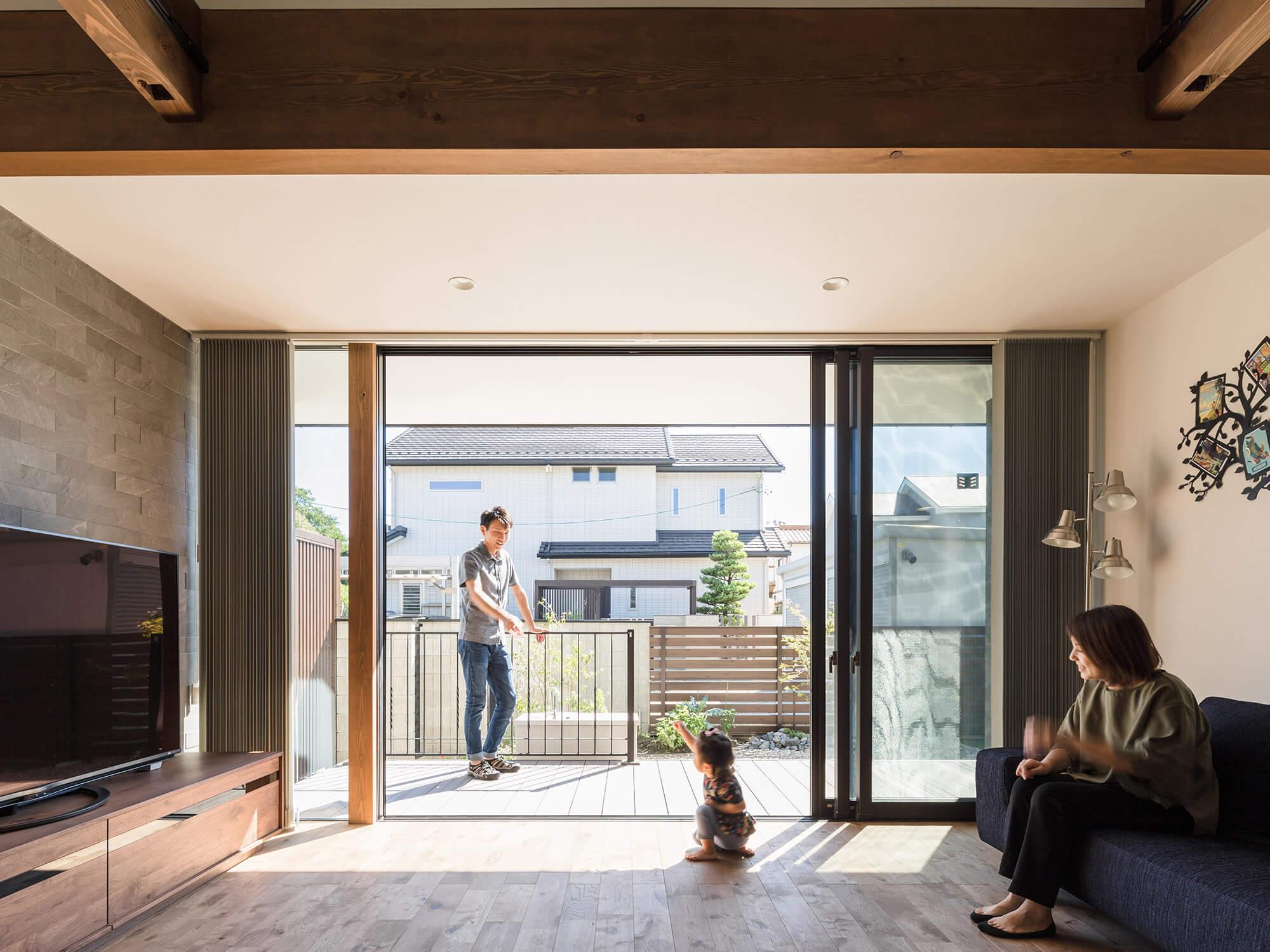 軒の繋がる家06|愛知県犬山市|Natureスペース施工事例