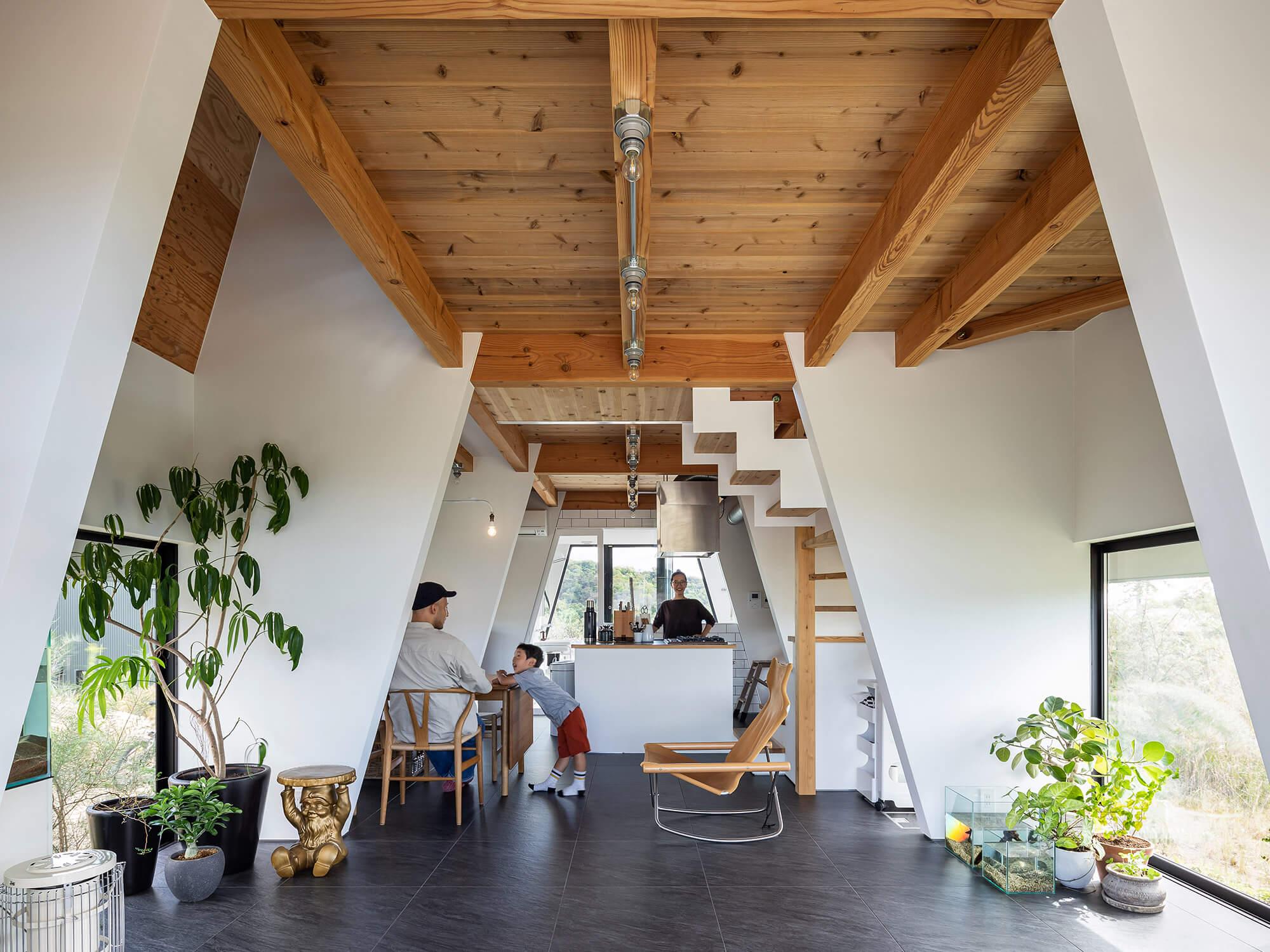 三角の家|建築家×工務店のNatureスペース施工事例|愛知県東郷町02