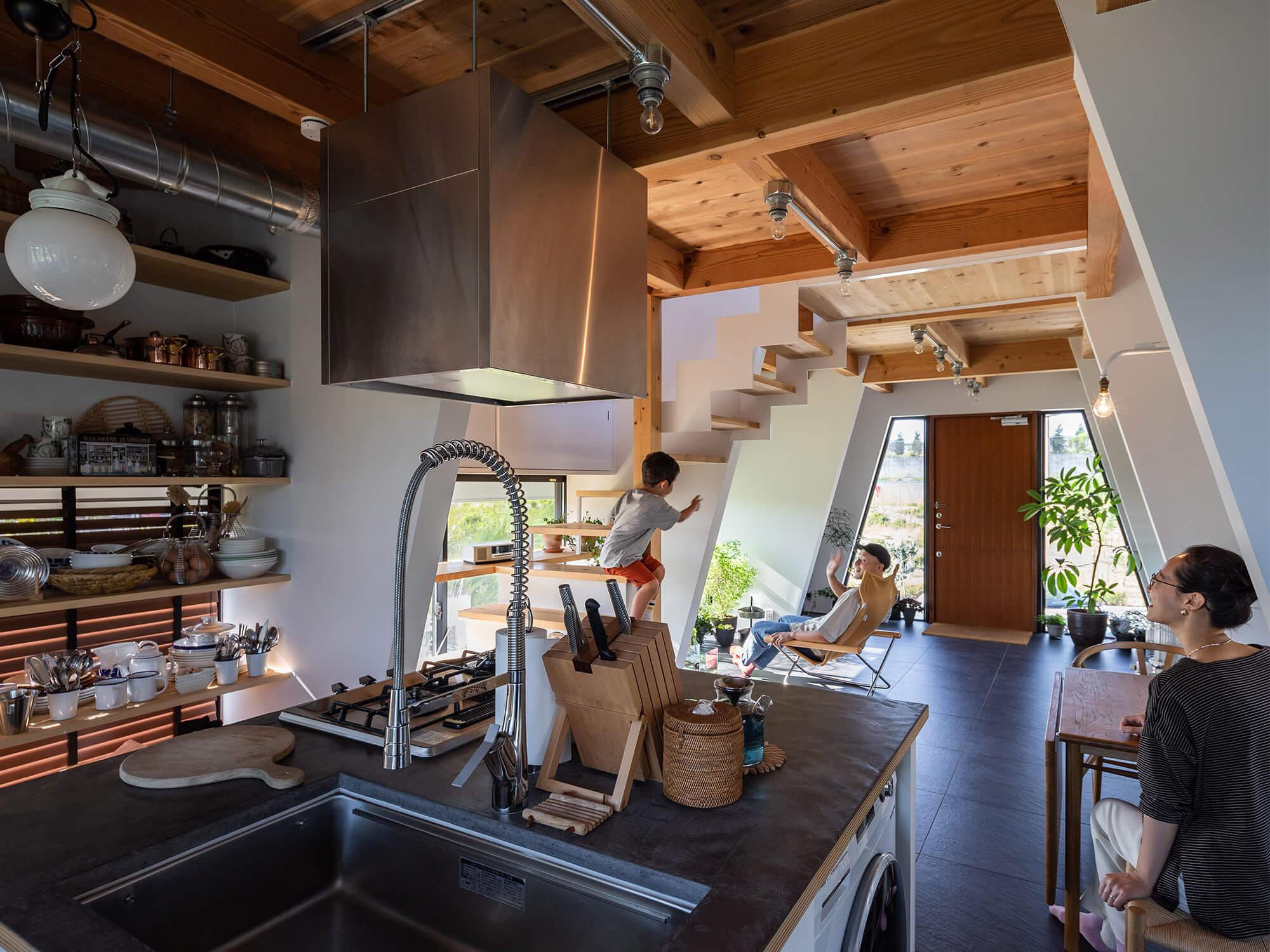 三角の家|建築家×工務店のNatureスペース施工事例|愛知県東郷町03